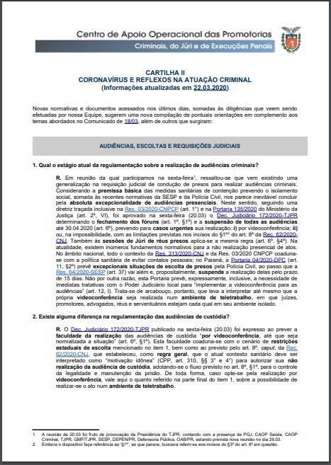 Capa - Cartilha - Coronavírus e Reflexos